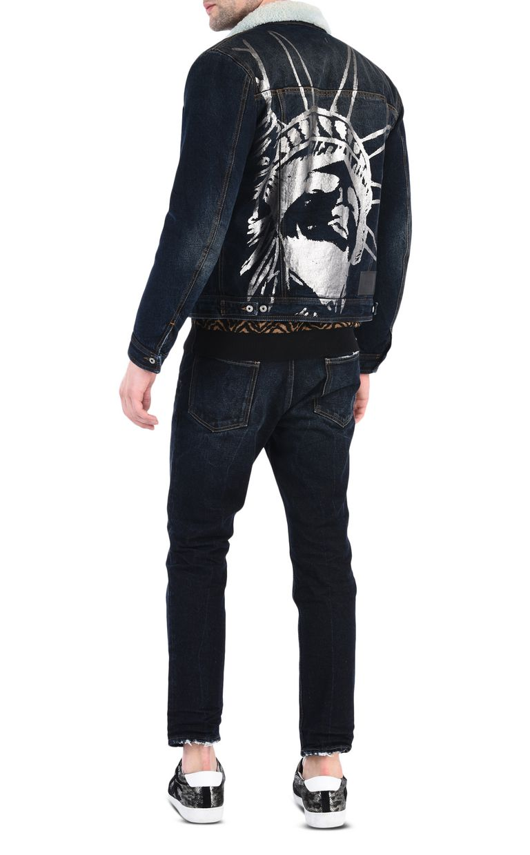 JUST CAVALLI Padded denim jacket Jacket Man r