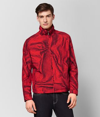 CHINA RED POLYESTER JACKET