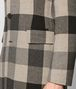 BOTTEGA VENETA DARK CEMENT/NERO WOOL CASHMERE COAT Outerwear and Jacket Man ep