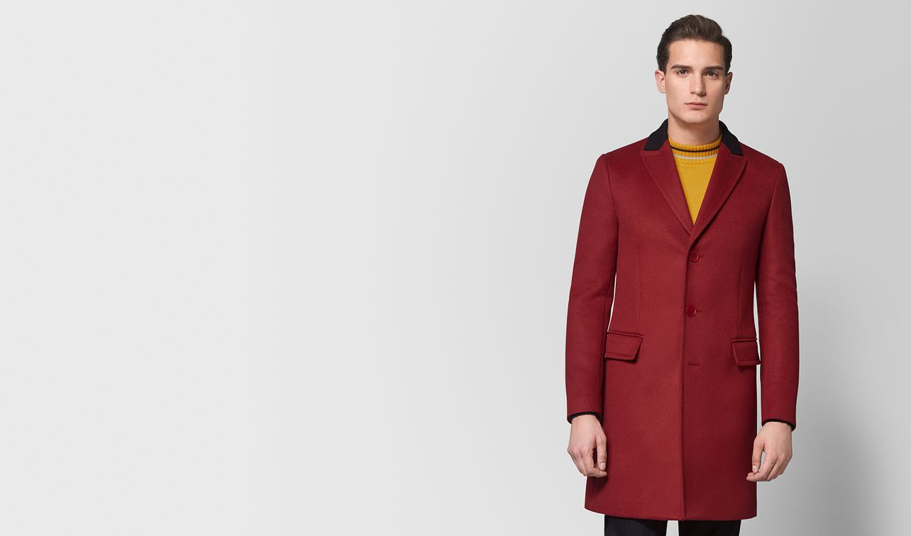 dark china red wool cashmere coat landing