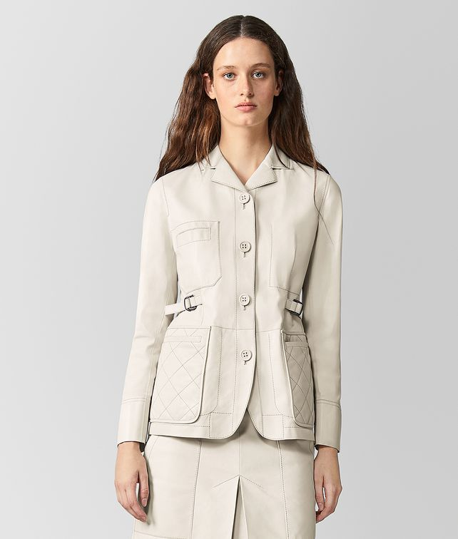 BOTTEGA VENETA MIST LAMB COAT Outerwear and Jacket Woman fp