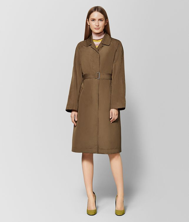 BOTTEGA VENETA CALVADOS POLYESTER TRENCH Outerwear and Jacket Woman fp