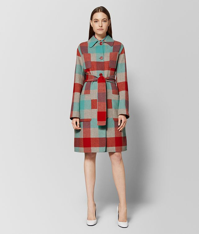 BOTTEGA VENETA MULTICOLOR WOOL COAT Outerwear and Jacket Woman fp