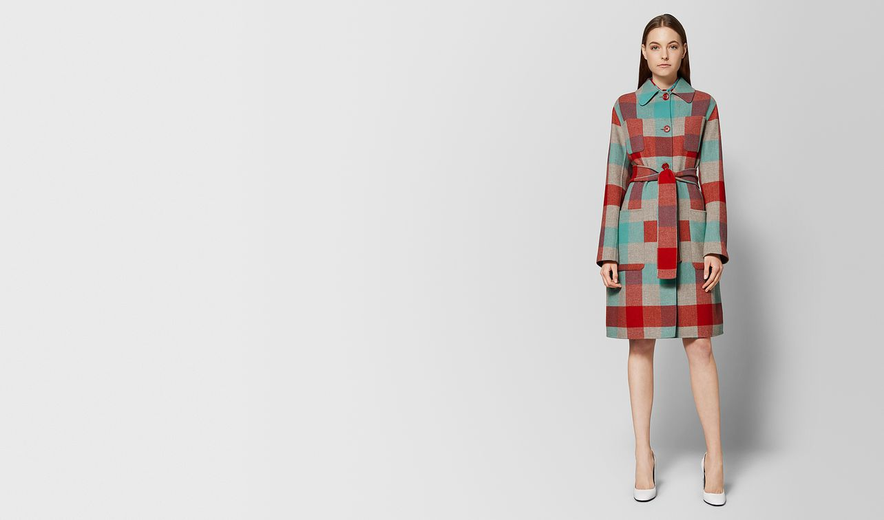 multicolor wool coat landing