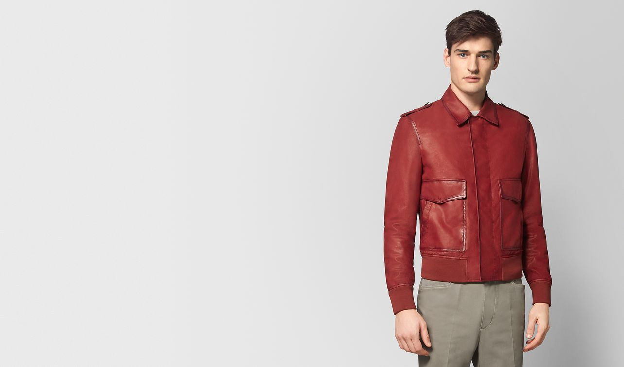 dark china red calf jacket landing