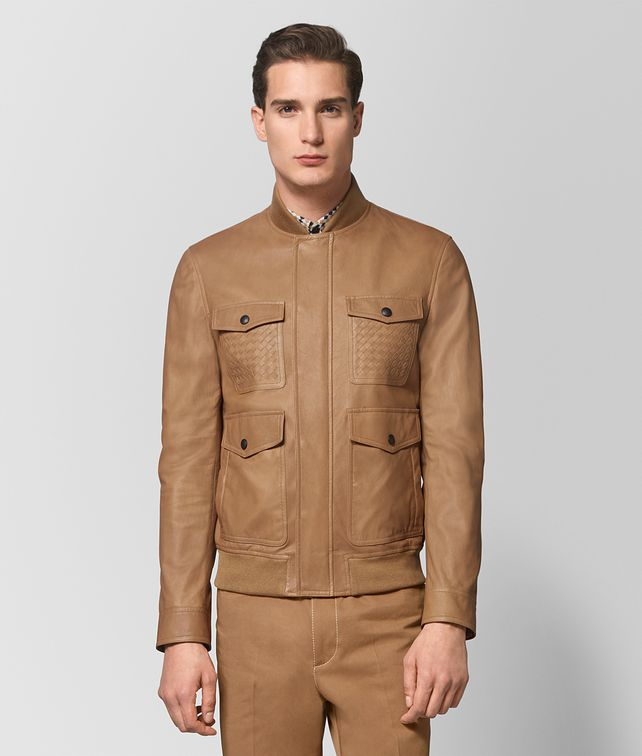 BOTTEGA VENETA CAMEL LAMB JACKET Outerwear and Jacket [*** pickupInStoreShippingNotGuaranteed_info ***] fp