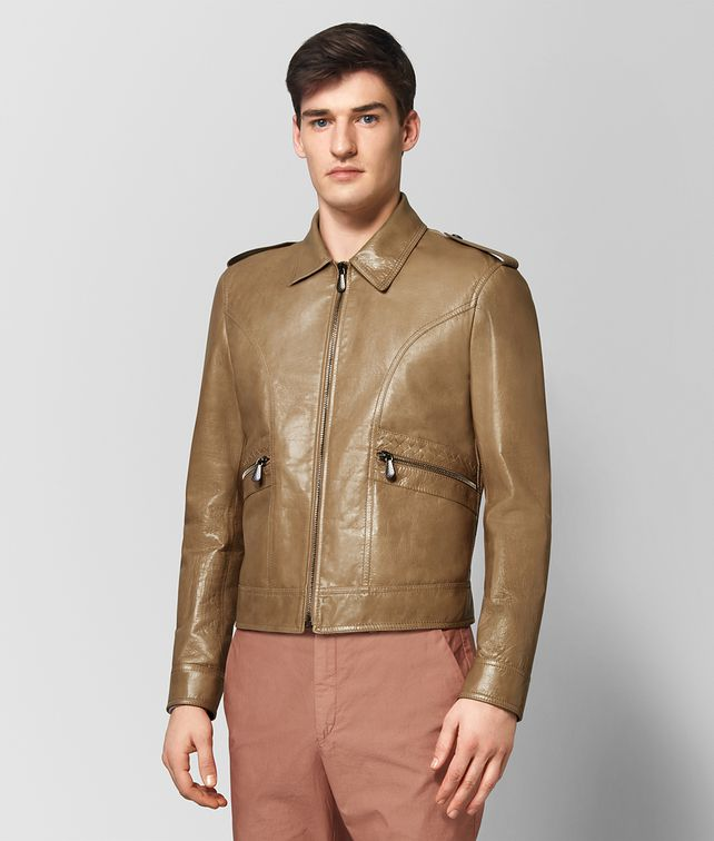 BOTTEGA VENETA CAMEL CALF JACKET Outerwear and Jacket Man fp