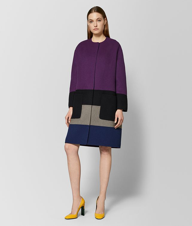 BOTTEGA VENETA MULTICOLOR CASHMERE COAT Outerwear and Jacket [*** pickupInStoreShipping_info ***] fp