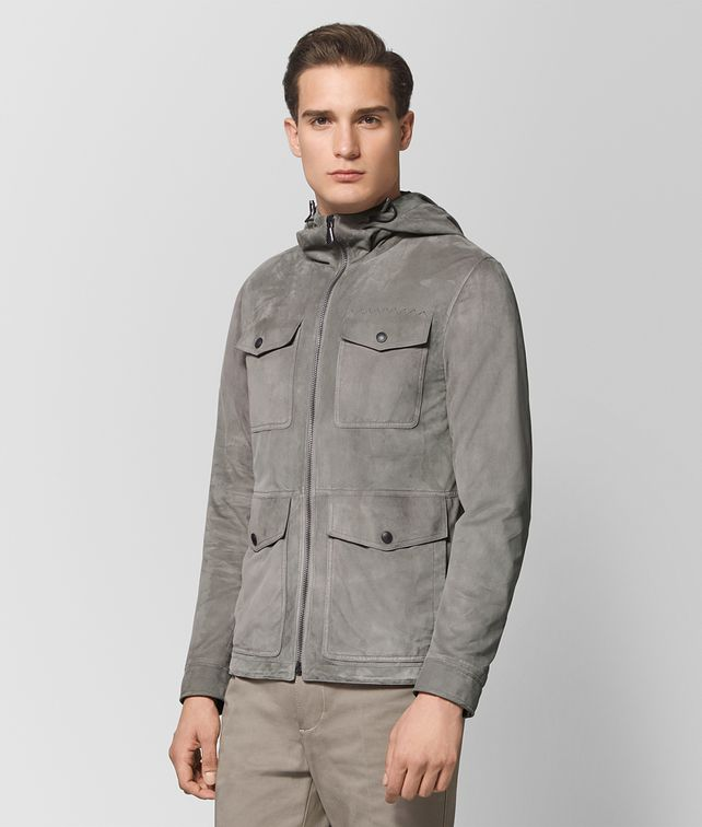 BOTTEGA VENETA DARK CEMENT SUEDE JACKET Outerwear and Jacket Man fp