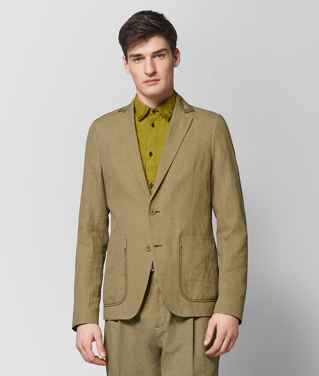 BOTTEGA VENETA LIGHT CHAMOMILE COTTON JACKET Outerwear and Jacket Man fp