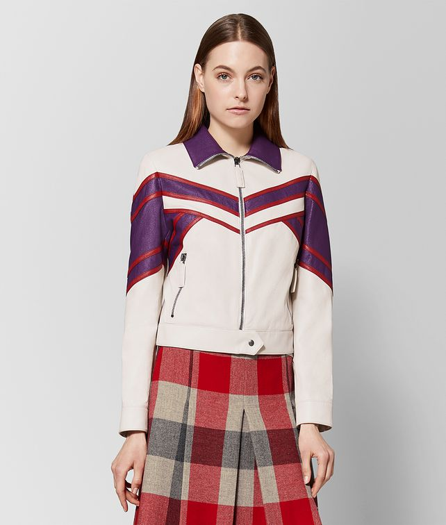 BOTTEGA VENETA MULTICOLOR LAMB JACKET Outerwear and Jacket Woman fp