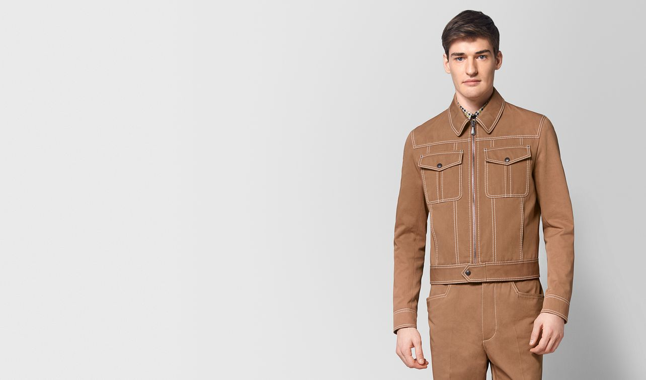 camel cotton jacket landing