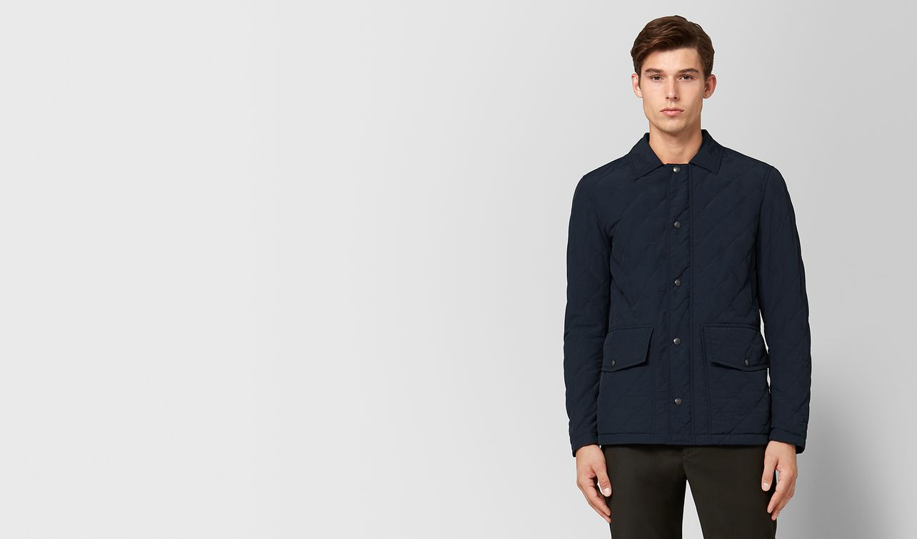dark navy polyester jacket landing