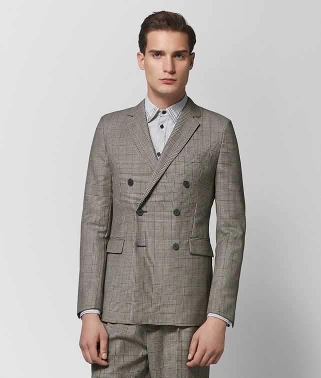 BOTTEGA VENETA MIST/NERO WOOL JACKET Outerwear and Jacket Man fp
