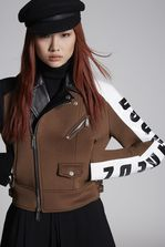 DSQUARED2 Bonded Wool Racer Kiodo Jacket Kaban Woman