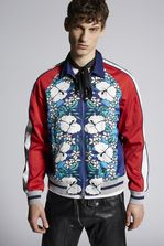 DSQUARED2 Ibisco Printed Classic Bomber Jacket Kaban Man