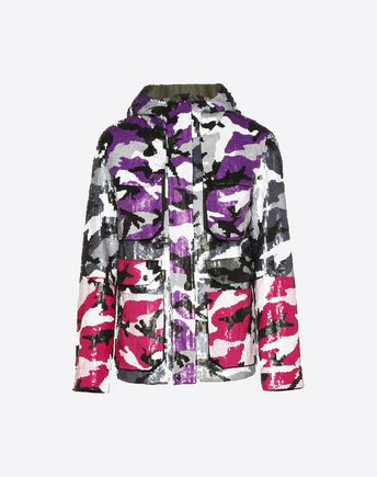 VALENTINO Down jacket U Reversible Camoushuffle down coat f