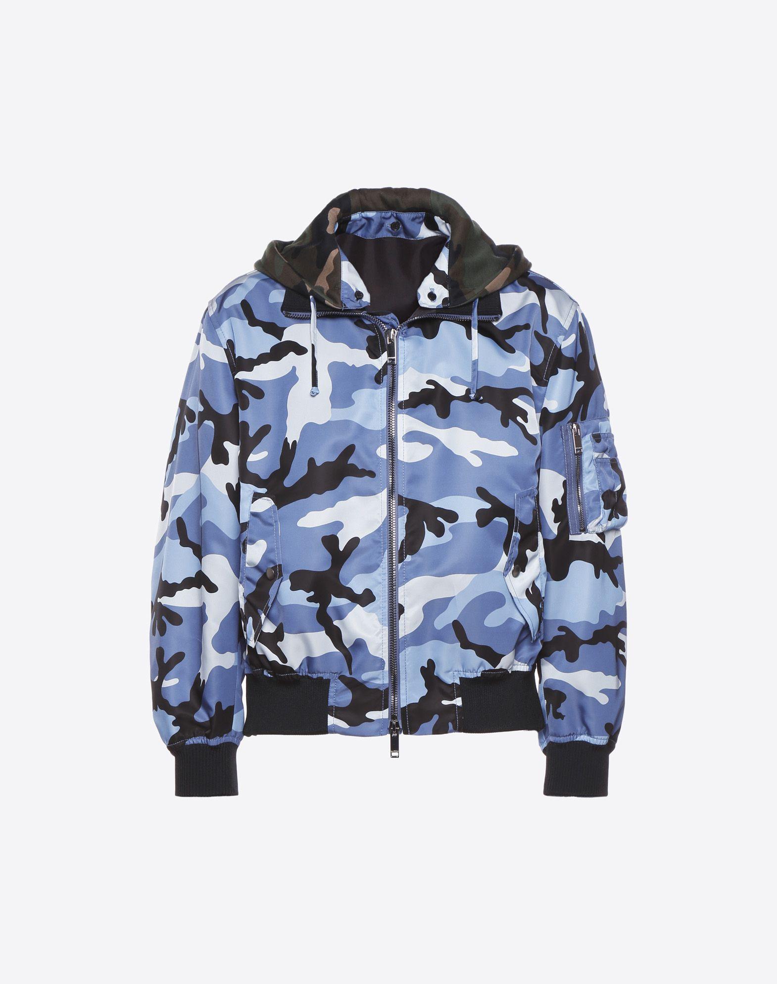 VALENTINO Camouflage bomber jacket  JACKET U f