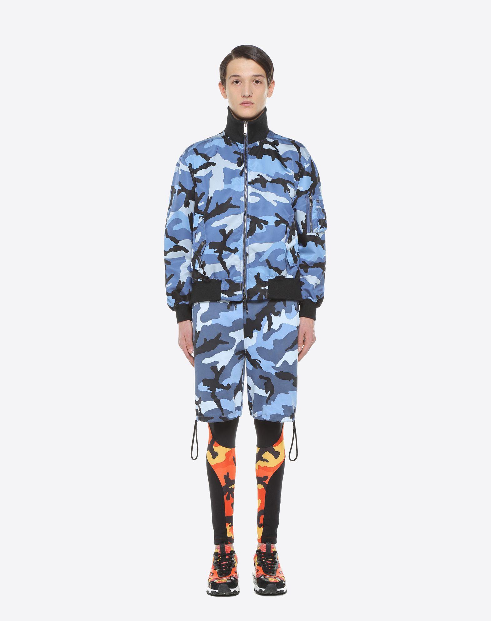 VALENTINO Camouflage bomber jacket  JACKET U r
