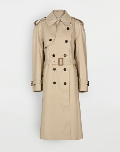 MAISON MARGIELA Raincoat Woman Beige Long Trench Crafted By Mackintosh f