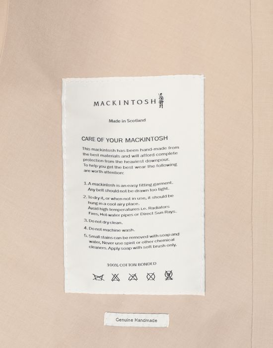 MAISON MARGIELA Beige Long Trench Crafted By Mackintosh Raincoat [*** pickupInStoreShipping_info ***] b