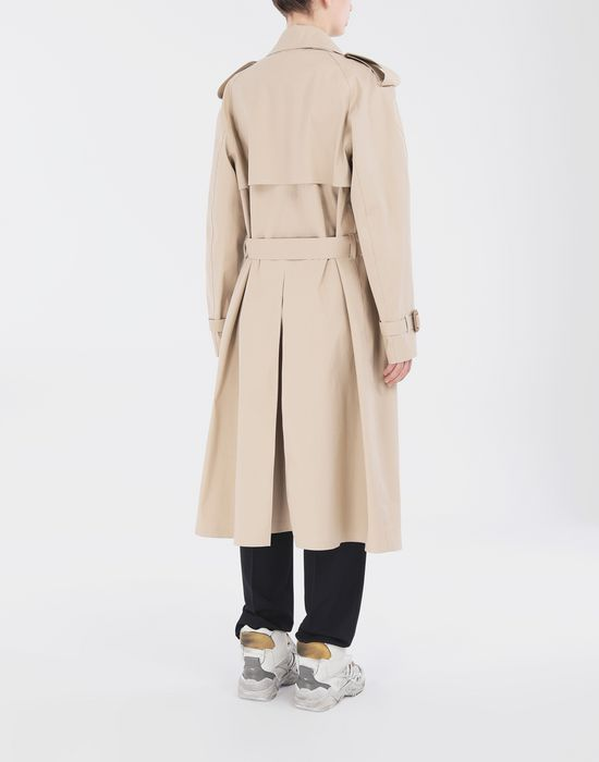 MAISON MARGIELA Beige Long Trench Crafted By Mackintosh Raincoat [*** pickupInStoreShipping_info ***] e