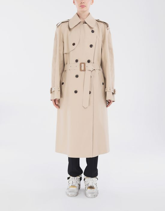 MAISON MARGIELA Beige Long Trench Crafted By Mackintosh Raincoat [*** pickupInStoreShipping_info ***] r