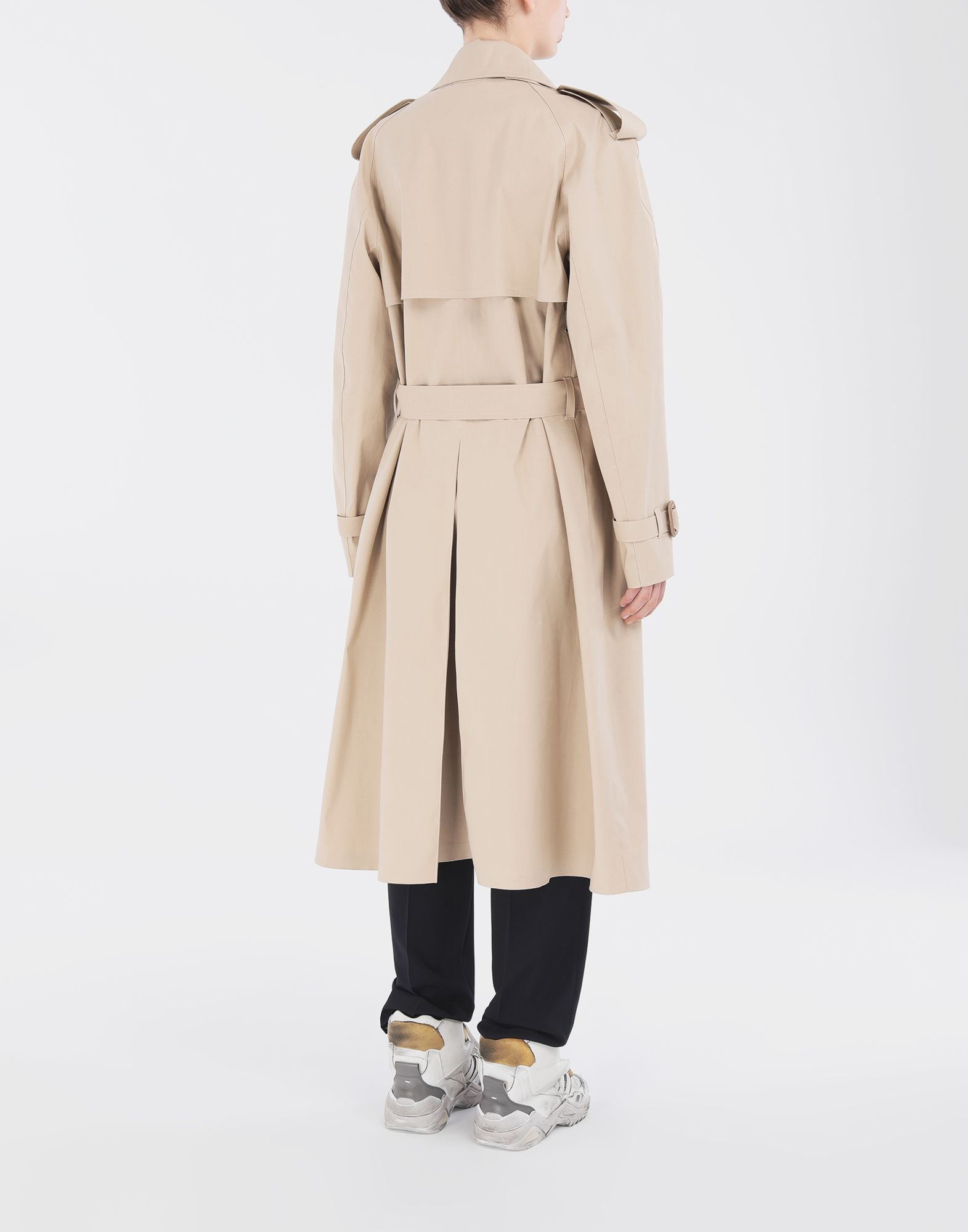 MAISON MARGIELA Beige Long Trench Crafted By Mackintosh Raincoat Woman e