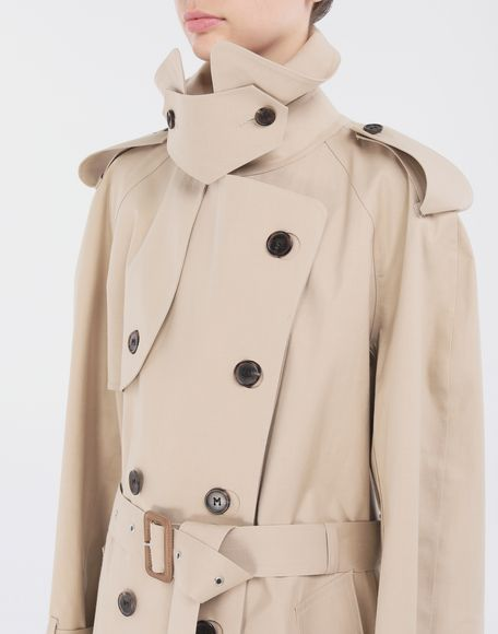 MAISON MARGIELA Beige Long Trench Crafted By Mackintosh Raincoat Woman a