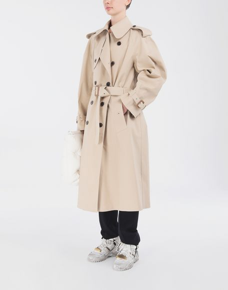 MAISON MARGIELA Beige Long Trench Crafted By Mackintosh Raincoat Woman d