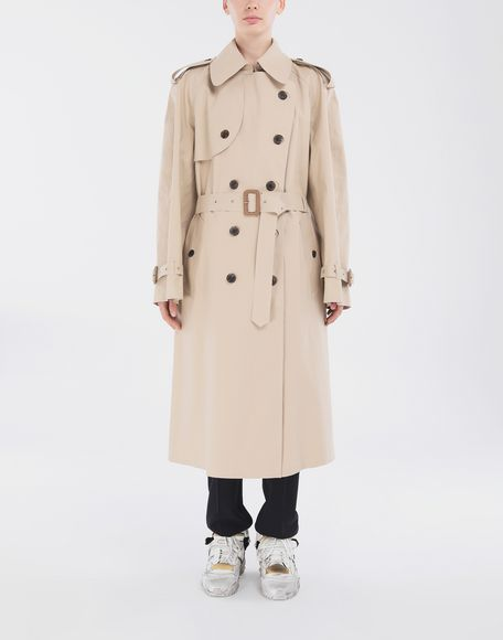 MAISON MARGIELA Beige Long Trench Crafted By Mackintosh Raincoat Woman r