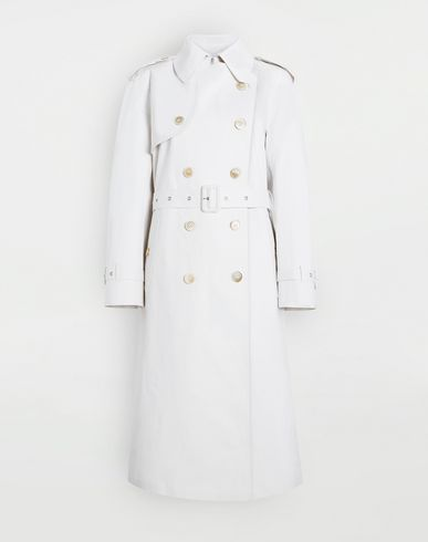 MAISON MARGIELA Raincoat Woman White Long Trench Crafted By Mackintosh f