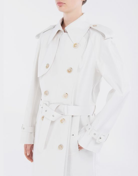 MAISON MARGIELA White Long Trench Crafted By Mackintosh Raincoat [*** pickupInStoreShipping_info ***] a