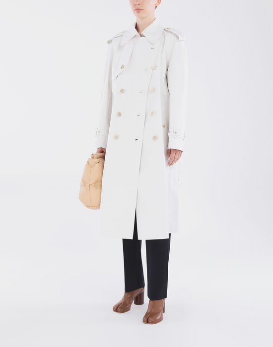 MAISON MARGIELA White Long Trench Crafted By Mackintosh Raincoat [*** pickupInStoreShipping_info ***] d