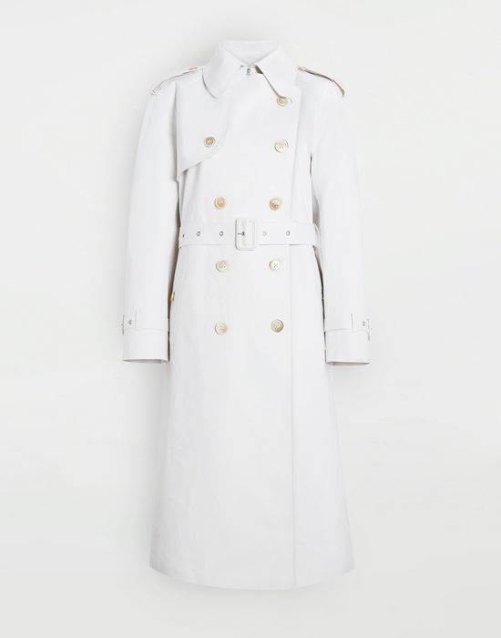 MAISON MARGIELA White Long Trench Crafted By Mackintosh Raincoat [*** pickupInStoreShipping_info ***] f