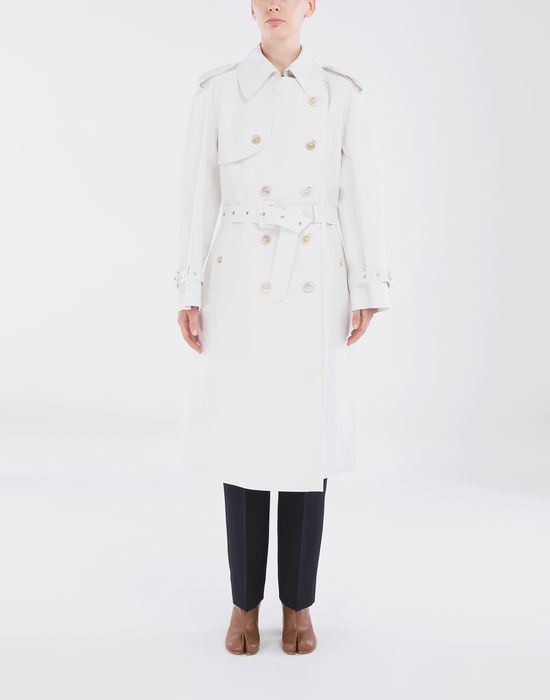 MAISON MARGIELA White Long Trench Crafted By Mackintosh Raincoat [*** pickupInStoreShipping_info ***] r