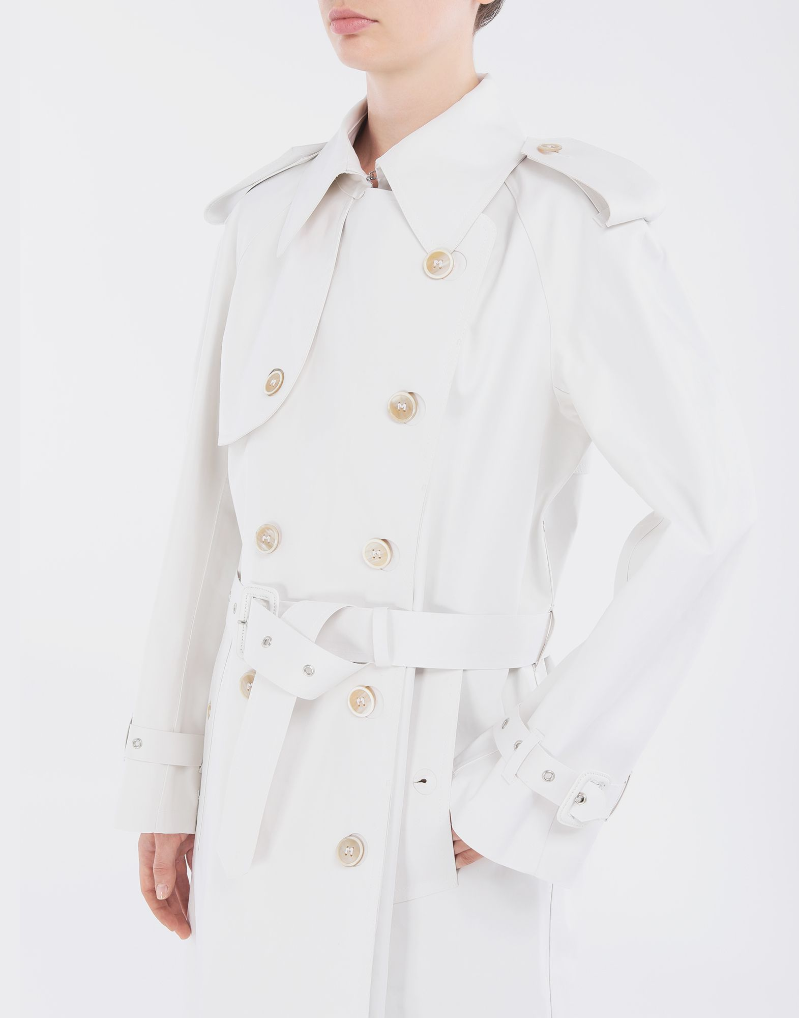 MAISON MARGIELA White Long Trench Crafted By Mackintosh Raincoat Woman a