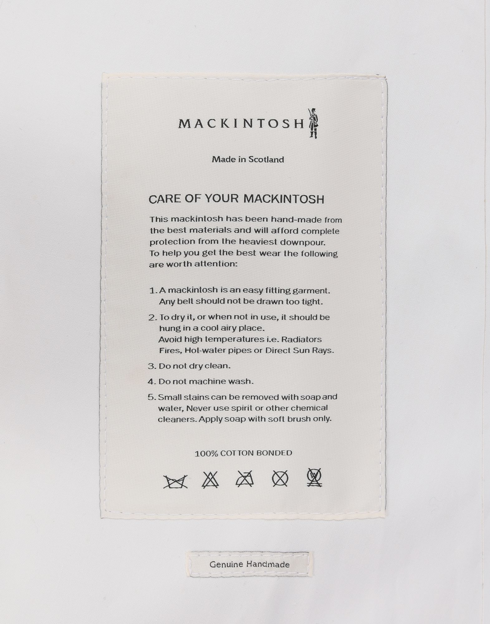MAISON MARGIELA White Long Trench Crafted By Mackintosh Raincoat Woman b
