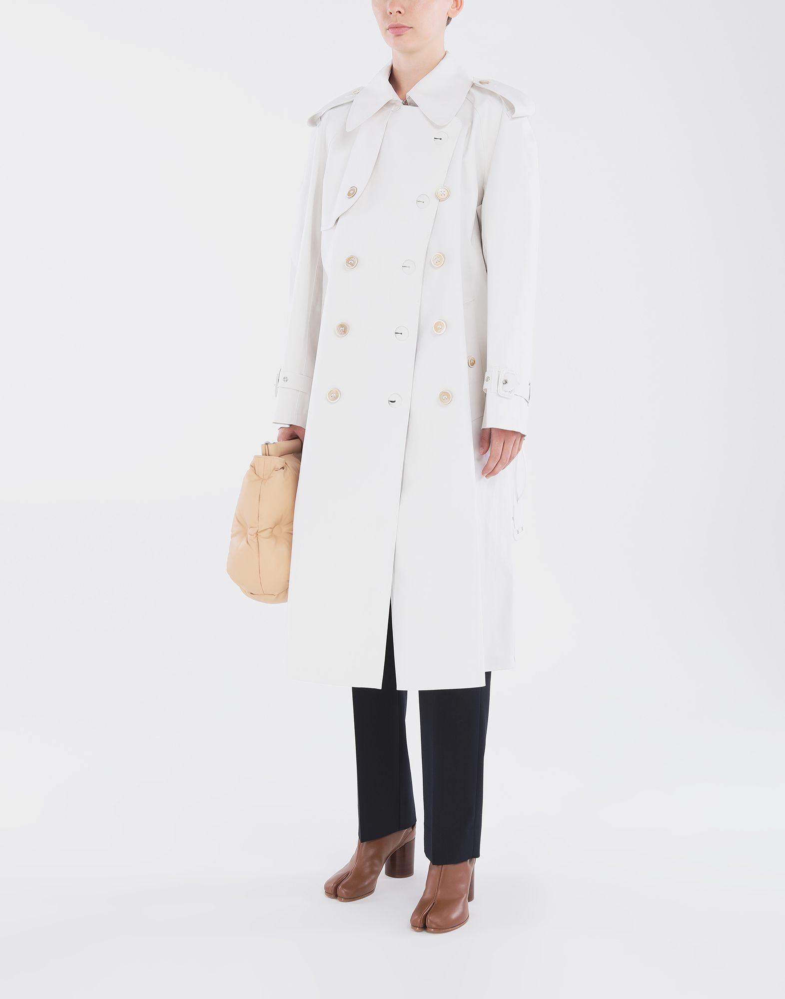 MAISON MARGIELA White Long Trench Crafted By Mackintosh Raincoat Woman d