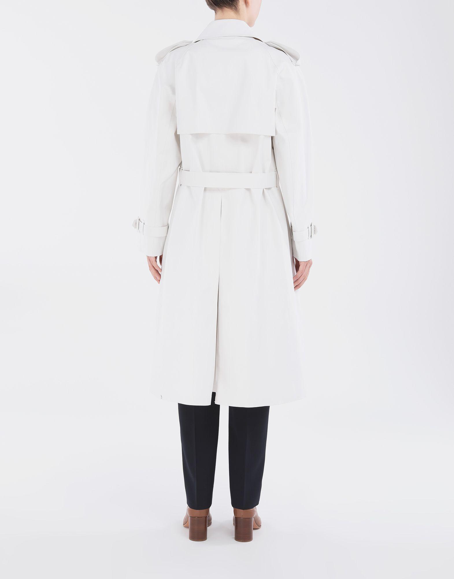 MAISON MARGIELA White Long Trench Crafted By Mackintosh Raincoat Woman e