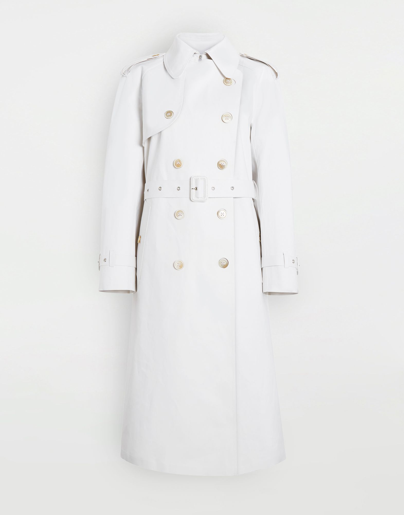 MAISON MARGIELA White Long Trench Crafted By Mackintosh Raincoat Woman f