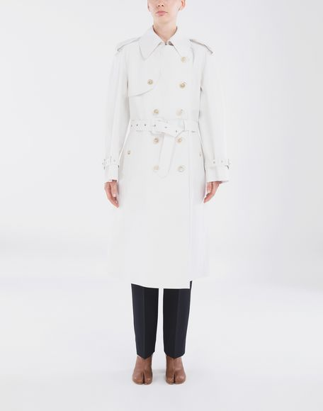 MAISON MARGIELA White Long Trench Crafted By Mackintosh Raincoat Woman r