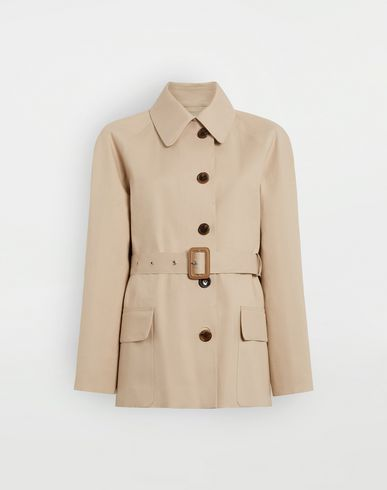 MAISON MARGIELA Short Beige Trench Crafted By Mackintosh Light jacket Woman f