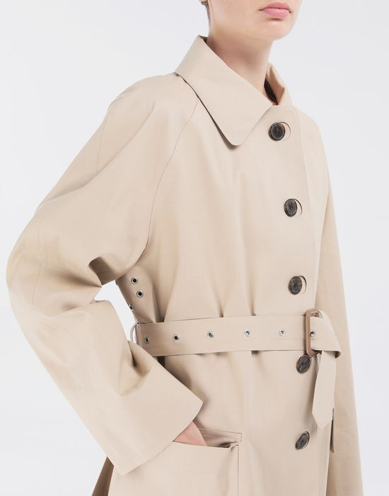 MAISON MARGIELA Short Beige Trench Crafted By Mackintosh Light jacket [*** pickupInStoreShipping_info ***] a