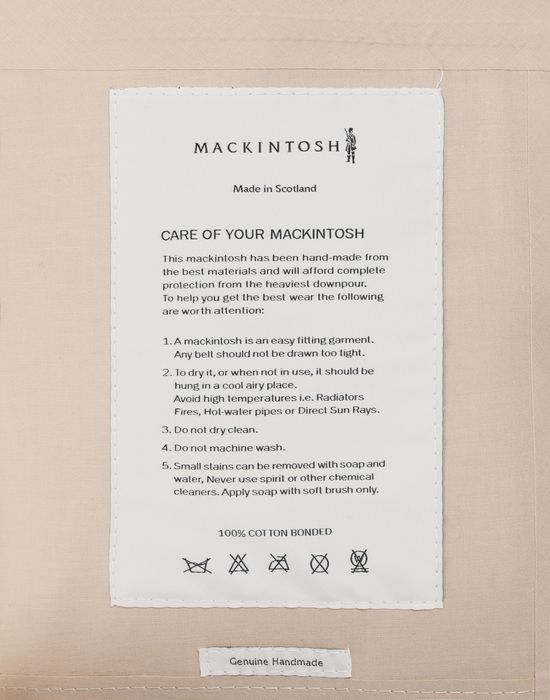 MAISON MARGIELA Short Beige Trench Crafted By Mackintosh  Jacket [*** pickupInStoreShipping_info ***] b