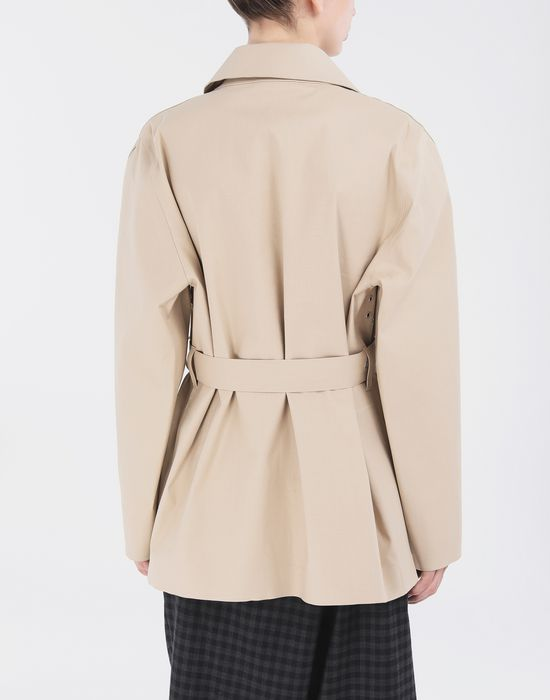 MAISON MARGIELA Short Beige Trench Crafted By Mackintosh Light jacket [*** pickupInStoreShipping_info ***] e
