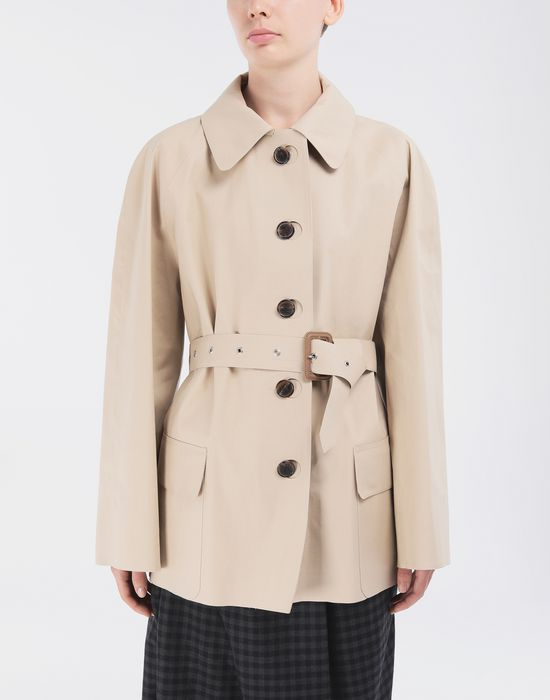 MAISON MARGIELA Short Beige Trench Crafted By Mackintosh Light jacket [*** pickupInStoreShipping_info ***] r