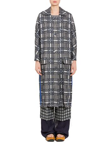 Marni Lightweight macro tweed coat Woman