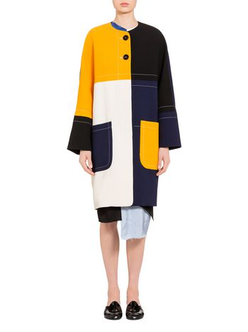 Marni Double face crepe coat Woman