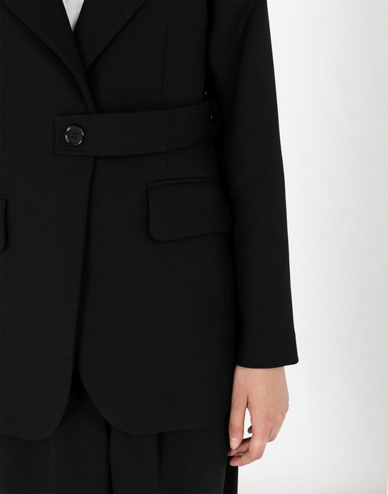 MM6 MAISON MARGIELA Wool tailored jacket with tabs Blazer [*** pickupInStoreShipping_info ***] a